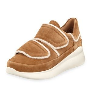 Ugg Ashby spill chestnut suede sneakers nwt